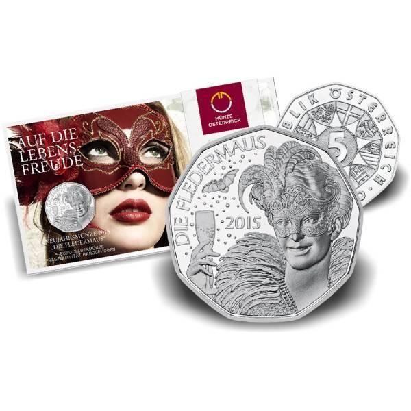 5 Euromünze Fladermaus Silber Hgh 2015