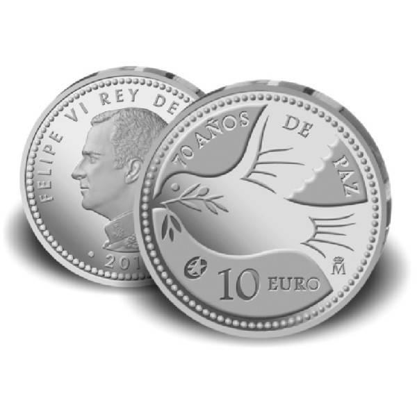 70 Jahre Frieden In Europa 10 Euro Münze Spanien 2015