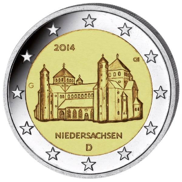 Michaeliskirche Hildesheim G 2 Euro Münze 2014