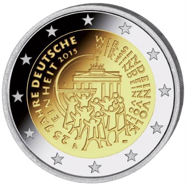 25 Jahre Deutsche Einheit F 2 Euro Münze 2015