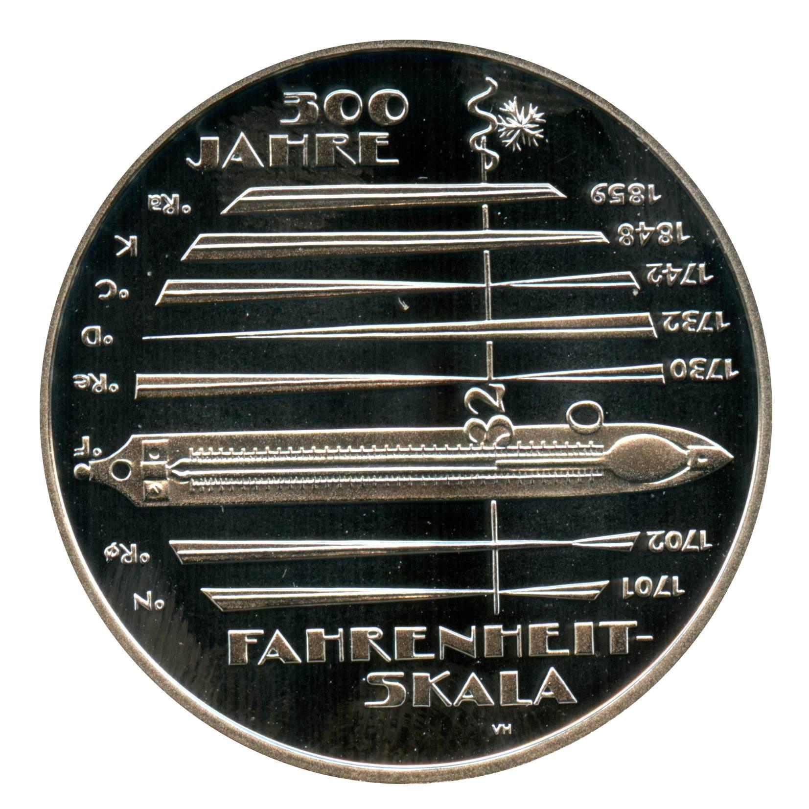 10 Euro 300 Jahre Fahrenheit 2014 J