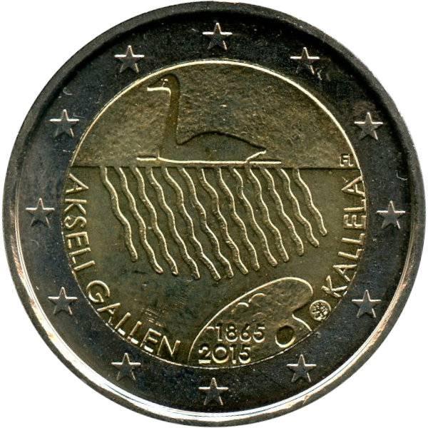 150 Geb Akseli Gallen Kallela 2 Euro Münze 2015