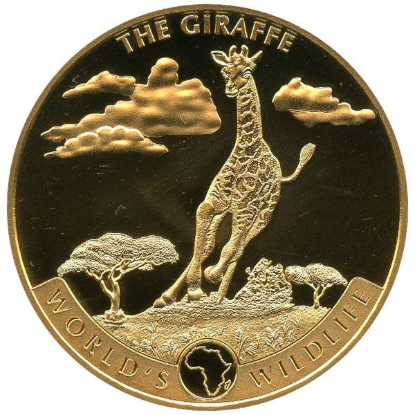 Bild von 1 oz Gold Kongo World´s Wildlife - Giraffe 2019