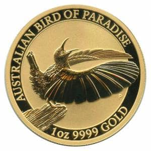 Bild von 1 oz Gold Australian Bird of Paradise - 2018