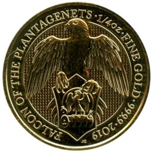 Bild von 1/4 oz The Queens Beasts Falcon 2019