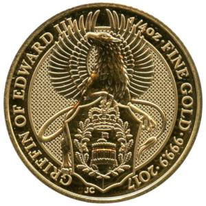 Bild von 1/4 oz The Queens Beasts Griffin of Edward III 2017