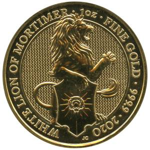 Bild von 1 oz The Queens Beasts White Lion 2020