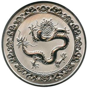 Bild von 1 oz Silber Niue Celestial Animals - The Green Dragon 2019