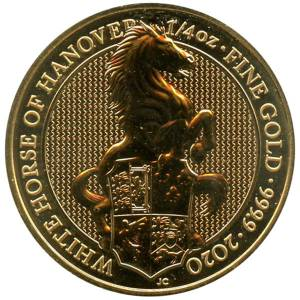Bild von 1/4 oz The Queens Beasts White Horse 2020