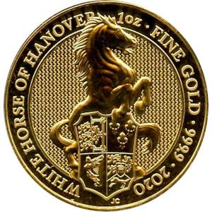 Bild von 1 oz The Queens Beasts White Horse 2020